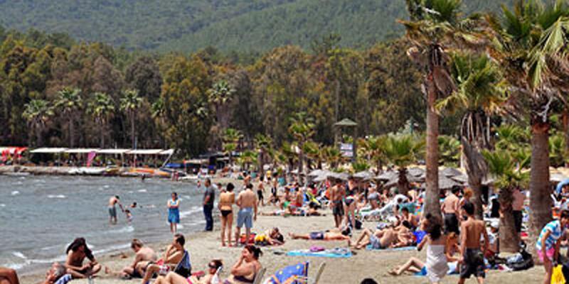 Muğla'da kavurucu sıcaklar nedeniyle sahiller doldu