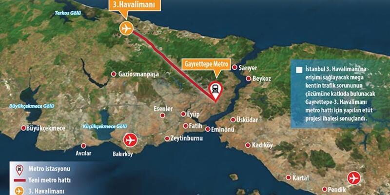 Gayrettepe - 3. Havalimanı metro hattı proje çalışması başladı