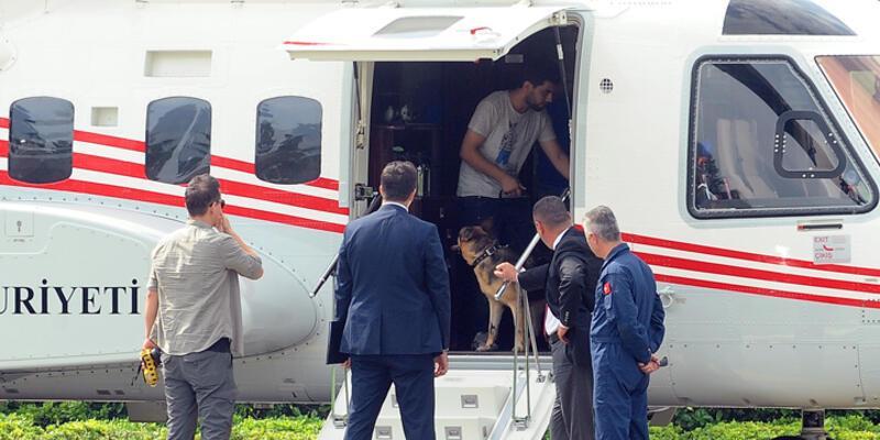 Cumhurbaşkanı Erdoğan Tarabya Köşkü'nden Sabiha Gökçen Havalimanı'na helikopterle geçti