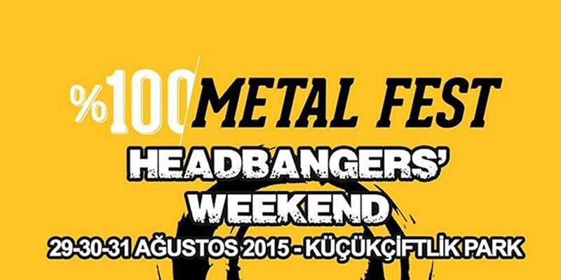 %100 Metal Festivali, 29-31 Ağustos'da Küçükçiftlik'de