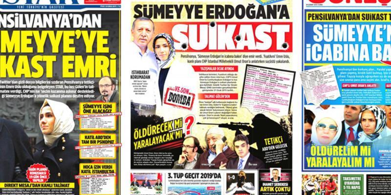 """""""Twitter'dan Sümeyye Erdoğan'a suikast planı"""" için sahte diyen 2 savcı için dosya açıldı"""