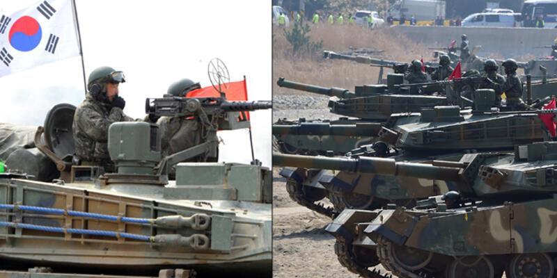 Kuzey Kore ve Güney Kore sınırında karşılıklı top atışı