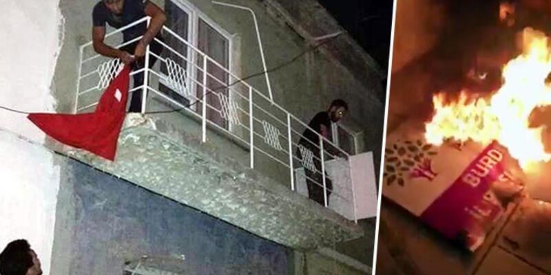 Burdur'da HDP binasına saldırı