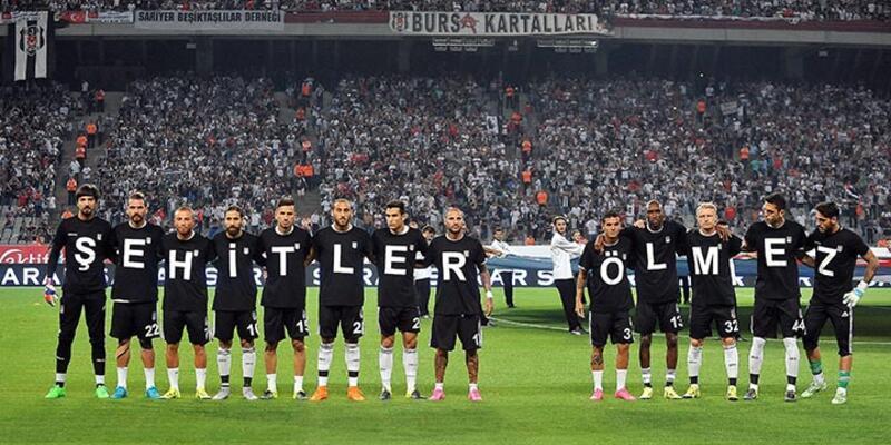 Beşiktaşlı futbolcular şehitleri unutmadı
