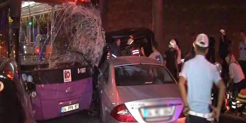 Dolmabahçe'de feci kaza!