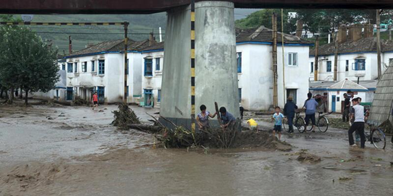 Kuzey Kore'de sel felaketi: 40 ölü...