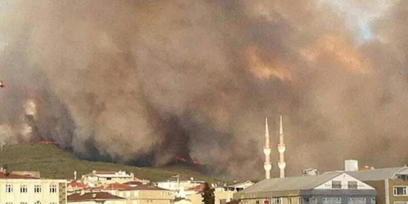 Tuzla'da Piyade Okulu ormanında yangın!