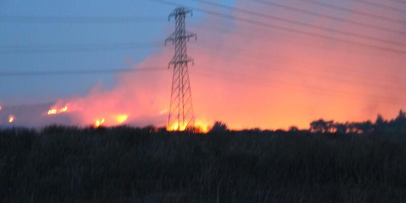 Tuzla Piyade Okulu'ndaki ağaçlık alanda yine yangın
