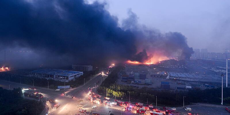 Çin'deki patlamada ölü sayısı 164'e yükseldi