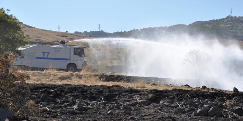Tunceli'deki orman yangınına TOMA'lı müdahale