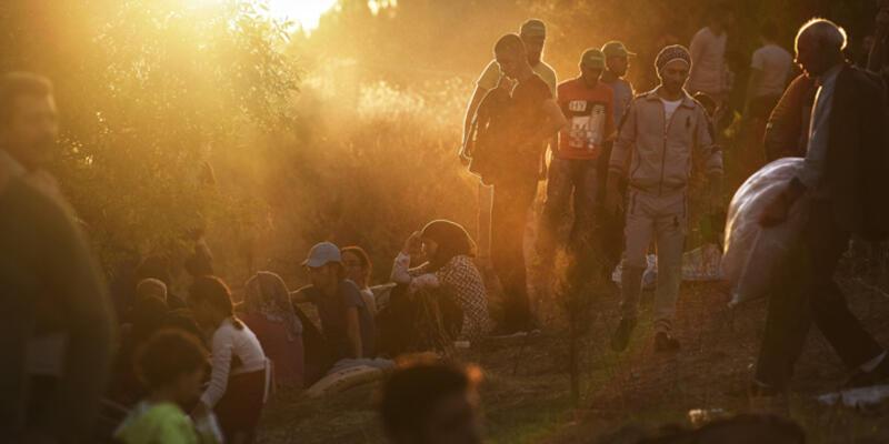 TEM kenarında Suriyelilerin göç kampı