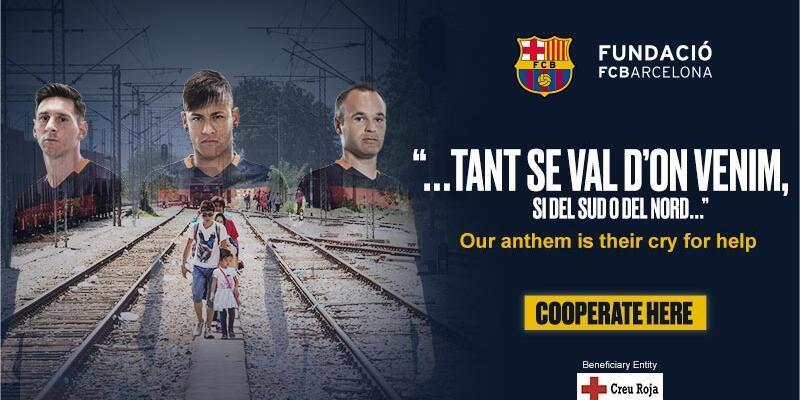Barcelona'dan mülteciler için yardım kampanyası