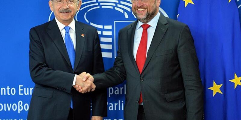 CHP lideri Kılıçdaroğlu, AP Başkanı Schulz ile görüştü