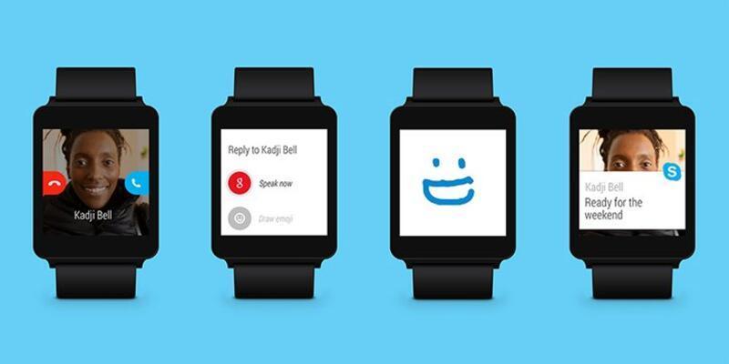 Skype, Android Wear için güncellendi