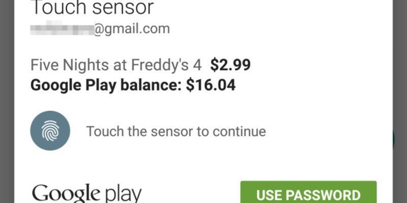 Play Store'da parmak izi güvenliği başladı!