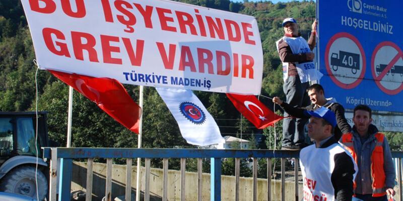 Çayeli Bakır İşletmesi'nde 320 işçi grev başlattı