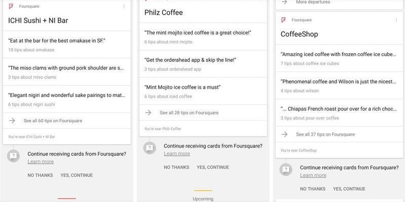 Google Now desteği Foursquare'a geldi!