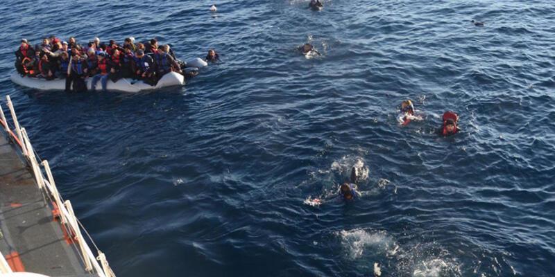 Ege'de göçmen teknesi battı: 1 ölü, 2 kişi kayıp