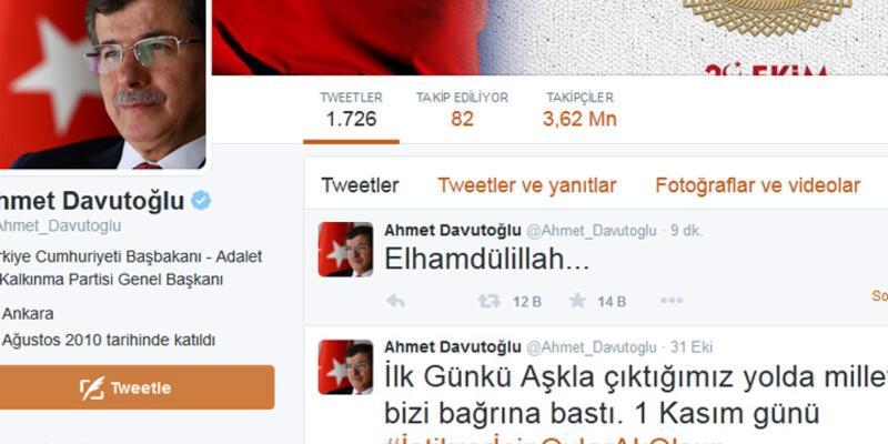 Ahmet Davutoğlu: Elhamdülillah...