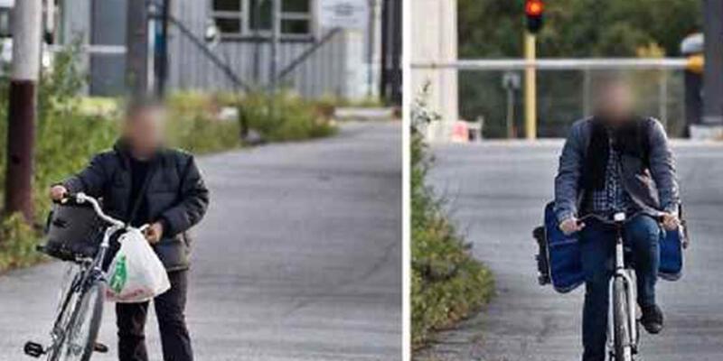 Norveç'te mülteciler sınırı bisikletlerle geçiyor
