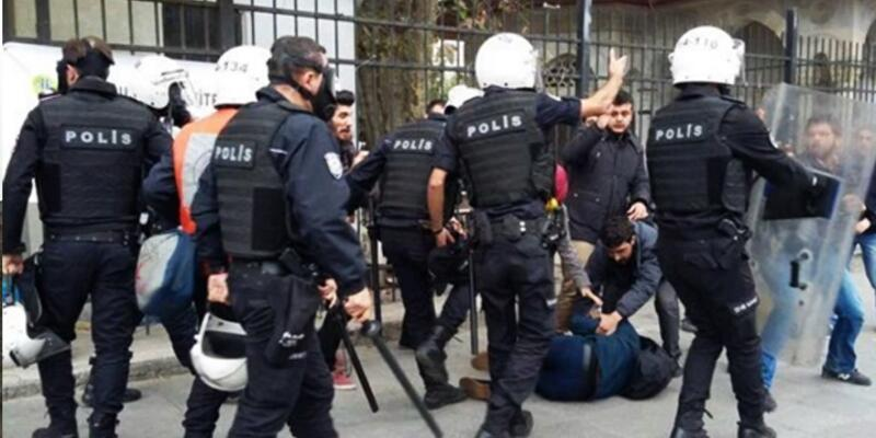 YÖK protestosunu takip eden gazeteciye ters kelepçeli gözaltı