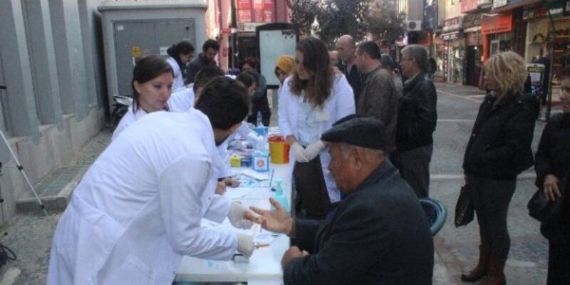 Trakya Üniversitesi halkın şekerini ölçtü