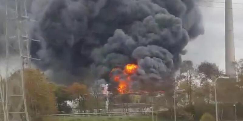Hollanda'da korkutan yangın!