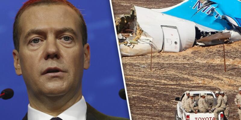 Rusya Başbakanı Medvedev'den düşen yolcu uçağıyla ilgili açıklama