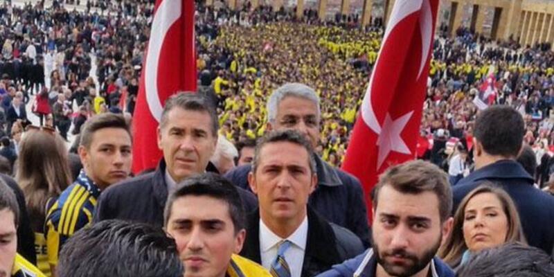 Ali Koç 4 bin Fenerbahçeli taraftarı Anıtkabir'de görünce...