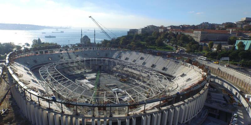 Vodafone Arena'da çatı kaldırma işlemi bitirildi