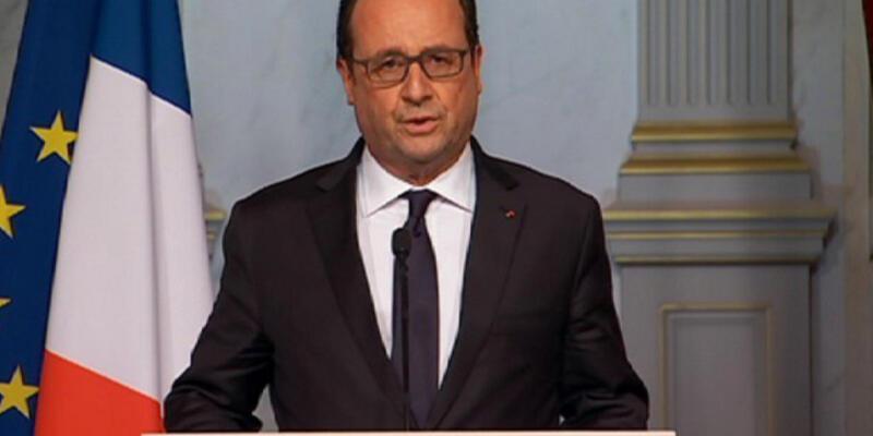 """Fransa Cumhurbaşkanı Hollande: """"Eşi görülmemiş bir saldırı"""""""