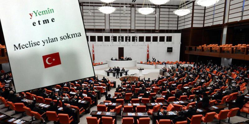 Meclis'te milletvekillerine garip notlar