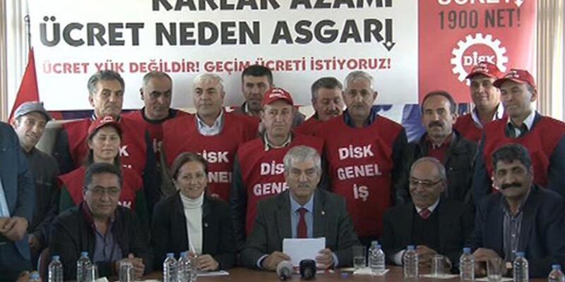 DİSK'in asgari ücret talebi: Net 1900 lira