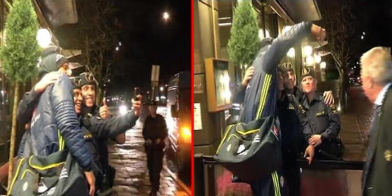 Ibrahimovic'le selfie çekmeye çalışan polisin dramı!