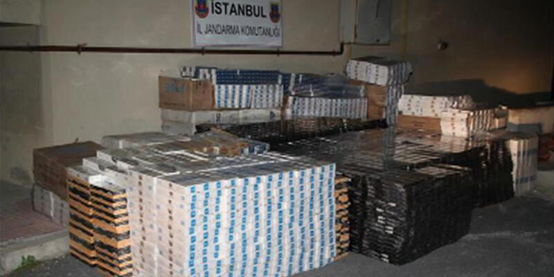 İstanbul'da 230 bin lira değerinde kaçak sigara ele geçirildi