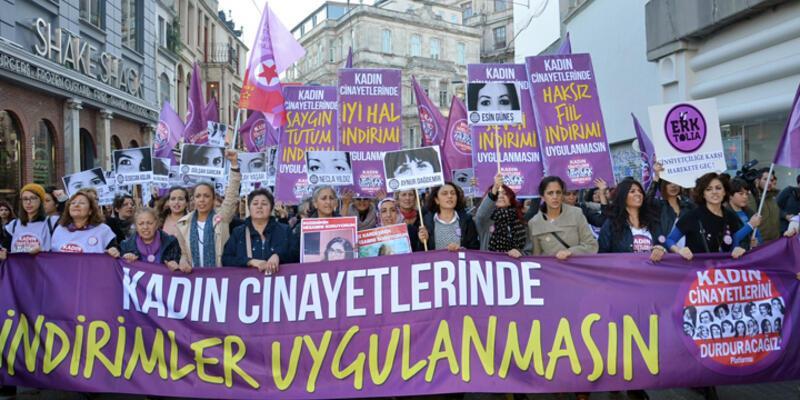 İstanbul'da kadın cinayetlerine karşı eylem