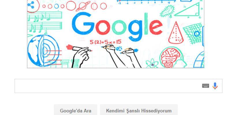 Öğretmenler Günü doodleı Google anasayfasında