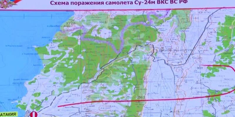 Rusya düşürülen savaş uçağının rotasını yayınladı