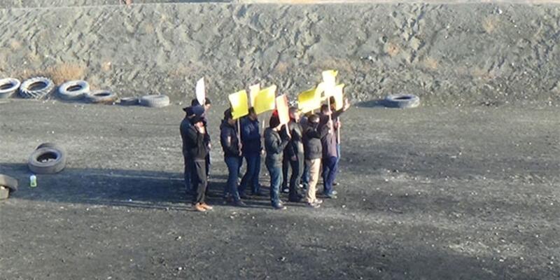 Polis tatbikatında ''Her yer Taksim, her yer direniş'' sloganları