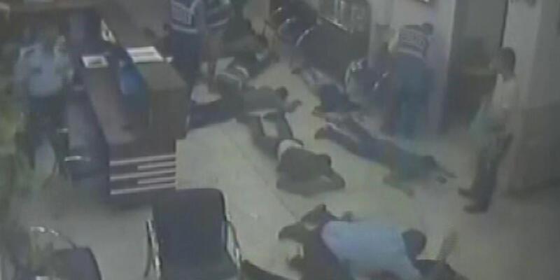 Polis merkezindeki dayağın görüntüleri ortaya çıktı