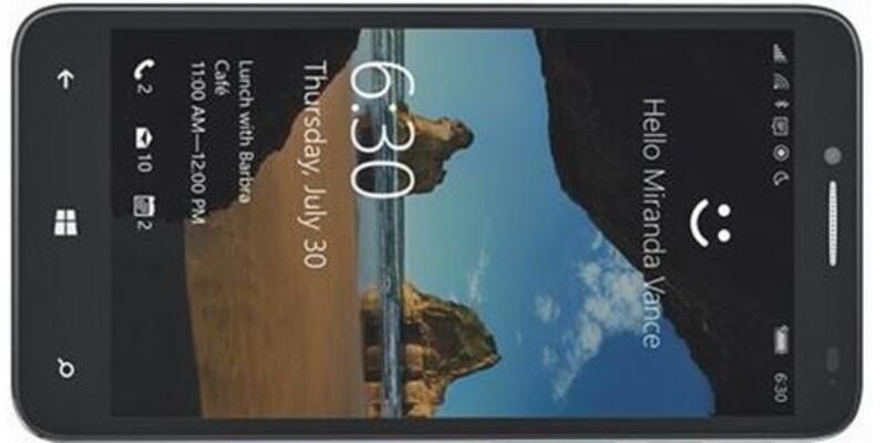 Windows 10'lu Alcatel One Touch Fierce XL