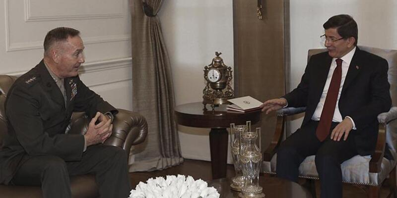 ABD Genelkurmay Başkanı, Başbakan Davutoğlu ile görüştü