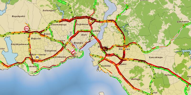 İstanbul'da trafik durdu!
