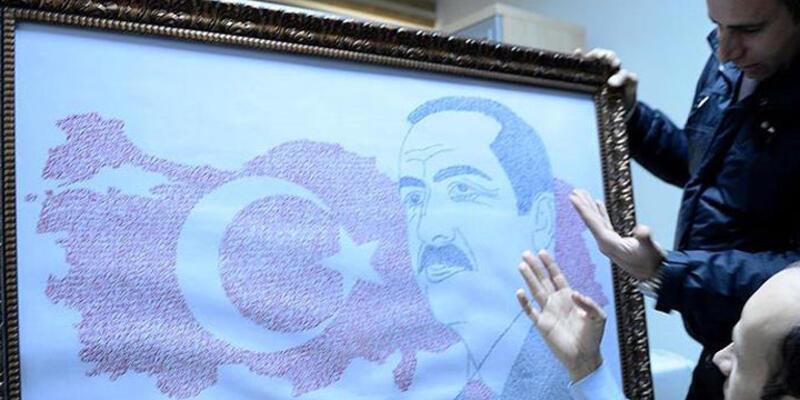 Erdoğan sevgisini portreye aktardı
