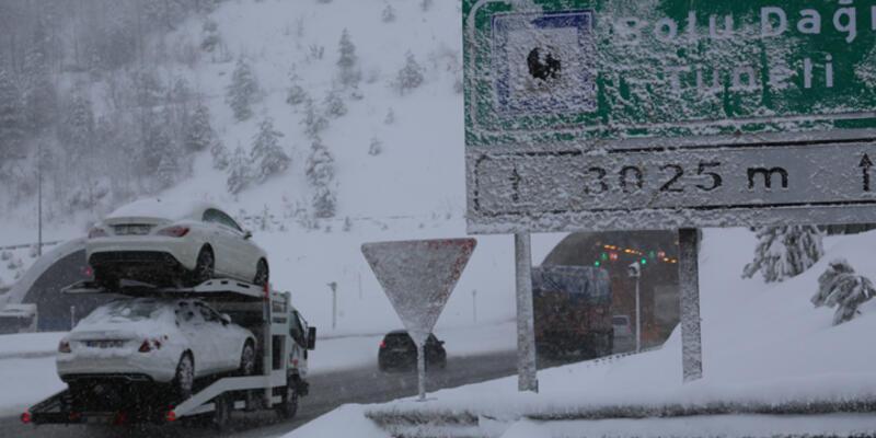 Bolu Dağı'nda kar  40 santime ulaştı