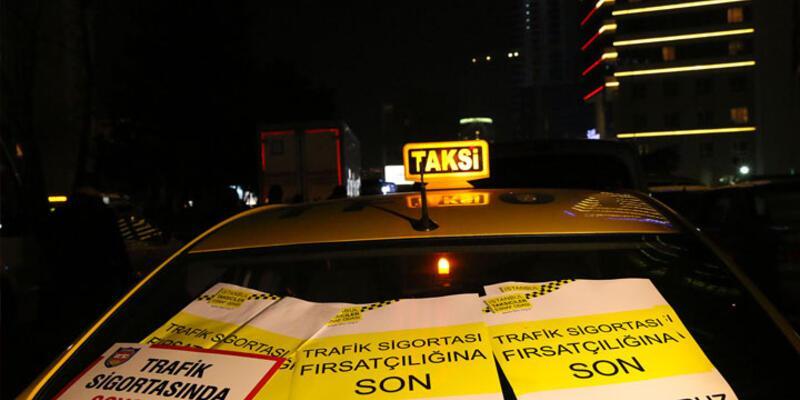 Taksicilerden sigorta zammı protestosu