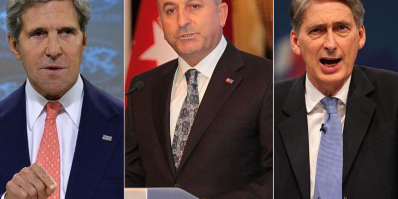 Çavuşoğlu, ABD ve İngiltere Dışişleri Bakanlarıyla görüştü