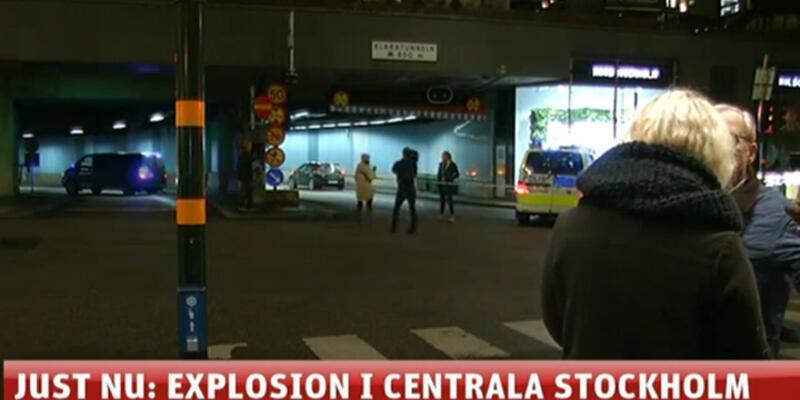 Stockholm'de şiddetli patlama!