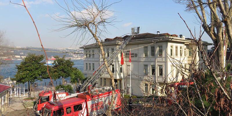 Üsküdar Beylerbeyi Sabancı Polisevi'nde yangın