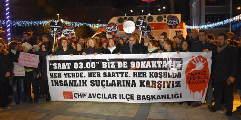 CHP'den gece saat 3'te tecavüz protestosu